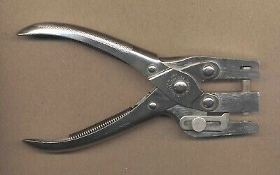 Vintage Sargent & Co. Heavy Duty Leather Hole Punch Tool New Haven Conn. USA