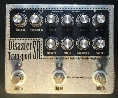 Earthquaker Devices Disaster Transport SR Dual Delay with Reverb Pedal!