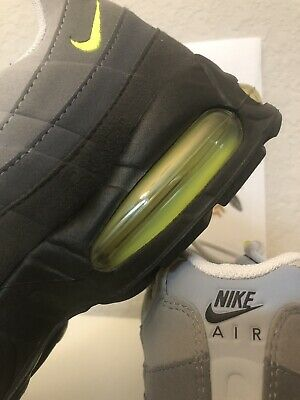 factory authentic 4452f bca59 Nike Air Max 95 OG 2003 HOA Retro Cool Gray Neon Volt Yellow Black Size 10.5