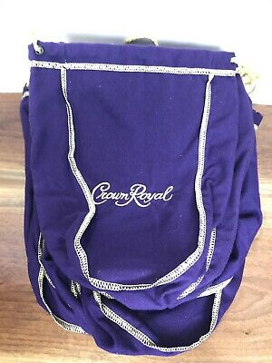"Lot Of 19 Medium Purple Crown Royal Bags 9.5"" Gold Stitch and Gold Drawstring"
