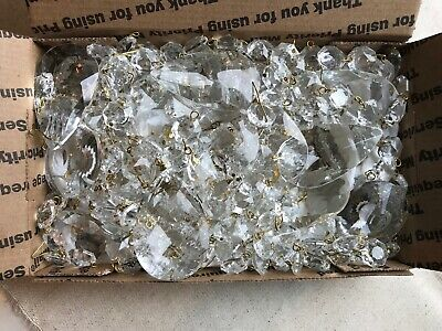 Full 3 Pound Lot Glass Crystals Prisms Teardrops Chandelier Full Flat Rate Box