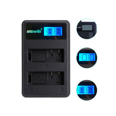 Power battery dual charger for Canon EOS 5DS 5D Mark II Mark III 6D 7D usb cable