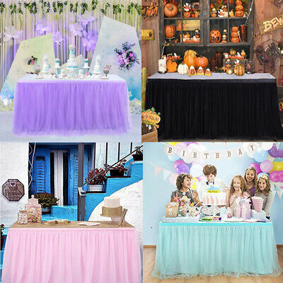 Tulle Table Skirt Tableware Wedding Party Xmas Baby Shower Birthday Decor