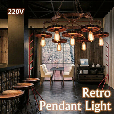 Gear Retro Metal Pendant Light Fixture Ceiling Industrial Chandelier Creative