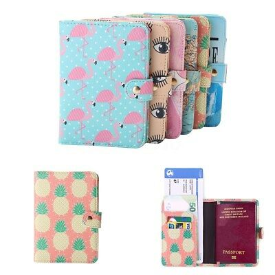 Chic Pineapple Travel Leather Passport Holder Card Case Protector Cover Wallet