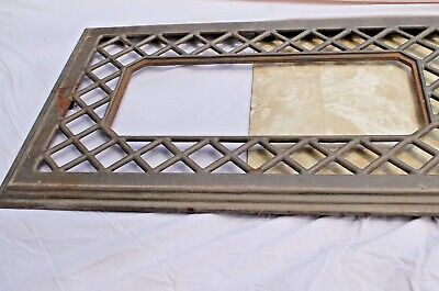 "Antique Cast Iron Floor Furnace Grate Register Cover Brown Enamel 18"" x 30"""