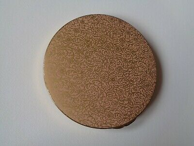 PRICE REDUCED: Vintage Stratton Ladies Powder Compact-Pink, Gold floral pattern