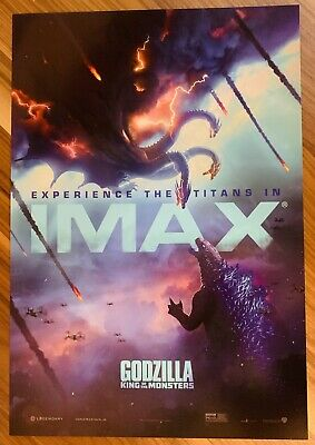 "GODZILLA: KING OF THE MONSTERS Movie poster 13"" x 19"" PREMIERE IMAX"