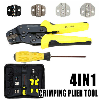 4 in 1 Cable Wire Crimping Tool Cord End Terminal Ratchet Crimper Pliers