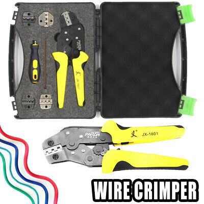 5 in 1 Professional Wire Crimper Pliers Ratcheting With 5 Terminal Crimping Tool