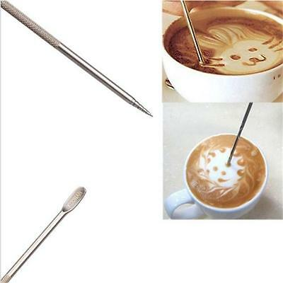 Stainless Steel Cappuccino Espresso Coffee Latte Decorating Art Pen Cafe Tool JI