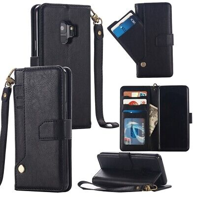 Wallet Leather Cardholder Flip Stand PU Leather Case Cover For Samsung Galaxy S9