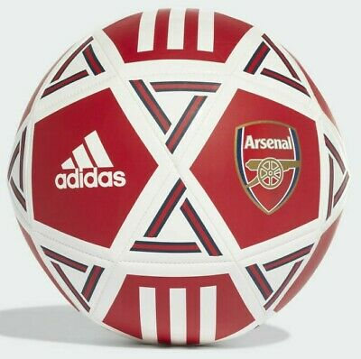 Adidas Arsenal F.C Official Club Crest Logo Football Ball Size 5 Red White Navy
