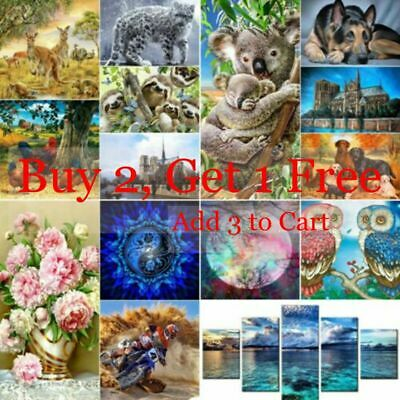 5D DIY Animals Full Drill Diamond Painting Kits Home Art Decors Christmas Gifts