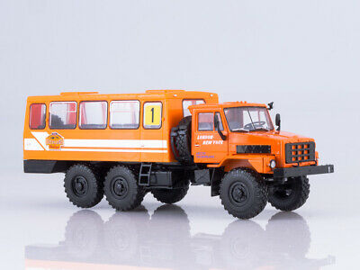 Scale model truck 1/43 URAL-4322 side with tent Diecast & Toy Vehicles Contemporary Manufacture