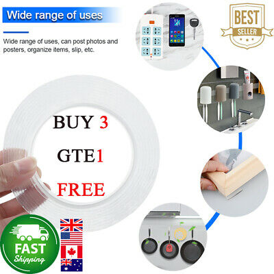 Magic Double-sided Tape Traceless Washable Adhesive Tape Nano Invisible Gel 07CA