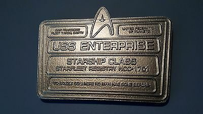 star trek uss enterprise dedication plaque replica alternate universe