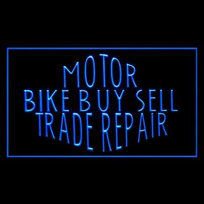190208 Motor Bike Buy Sell Trade Repair Qualified Display LED Light Sign