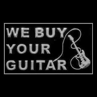 190212 We Buy Your Guitar Trade Sell Rocking Drums Display LED Light Sign