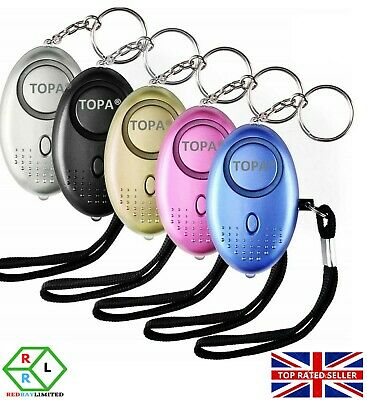 Police Approved Keyring Personal Panic Attack Safety Security Alarm 140db Silver
