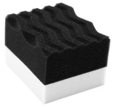Tyre Shine Thick Sponge Foam Applicator Pad Applying Trim Tire Bumper Dressing