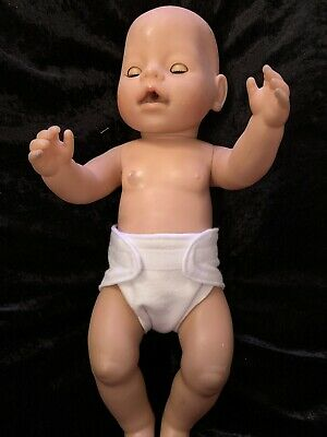 Dolls clothes. White Nappy size Med made to fit 42cm  Baby Born dolls