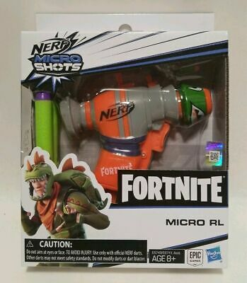 Fortnite Nerf RL MicroShots Dart Blaster with 2 Fortnite Elite Darts - Brand New