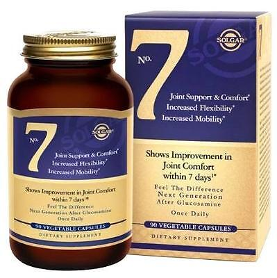 Solgar No 7 Joint Support & Comfort 90 Vegetable Capsules Exp 1/20+ NEW/SEALED
