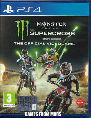 MONSTER ENERGY SUPERCROSS The Official Videogame PS4 USATO ITALIANO