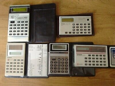 5 Casio Electronic Calculators Vintage Pack