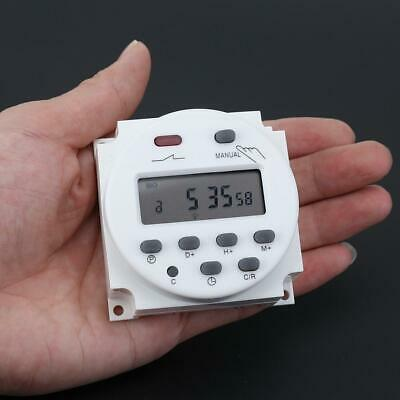 Digital LCD Display Power Timer Weekly Programmable Time Relay Switch(12V) Screw
