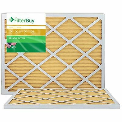20x23x1 MERV 11 Pleated AC Furnace Air Filter 2 Pack Filters Gold