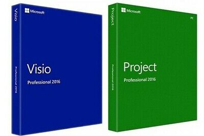 Microsoft Project Professional and MS Visio Pro 2016 FOR 1 PC INSTANT DELIVERY