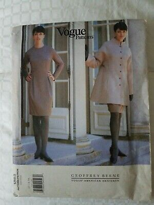 Vintage Vogue Amer  Designer Geoffrey Beene 1865 Nehru Jacket /Dress12-14-16