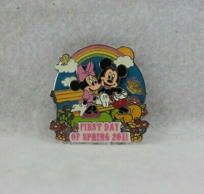 Disney Parks Pin LE 1000 2011 First Day of Spring Mickey Minnie Mouse