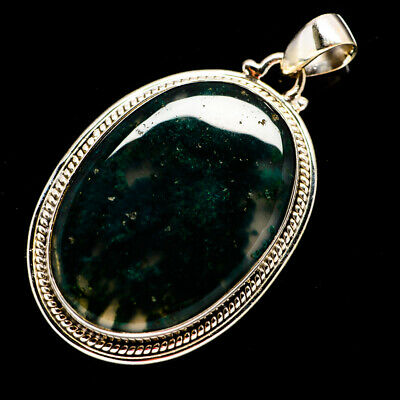 """Green Moss Agate 925 Sterling Silver Pendant 2"""" Ana Co Jewelry P693197F"""