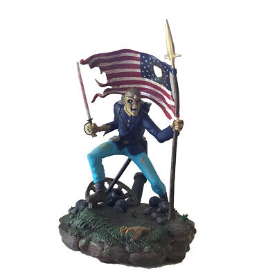 IRON MAIDEN LEGACY OF THE BEAST TROOPER EDDIE 1:10 FIGURINE STATUE American flag