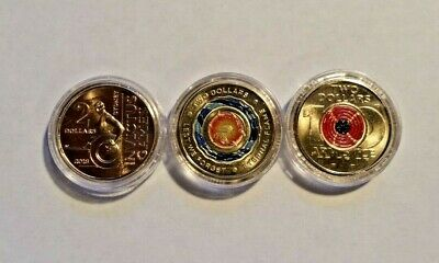 Anzac Remembrance Armistice Red Poppy Invictus Games Eternal Flame $2 Coins