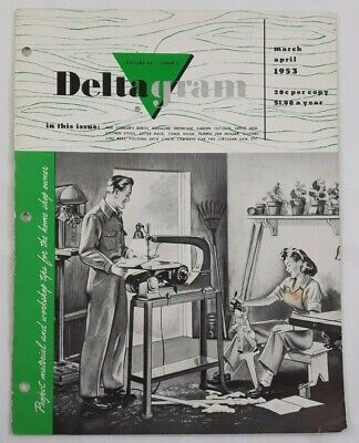 Lot 6 1953-60 Rockwell Deltagram Woodworking Magazines Pattern Plan Project 5471
