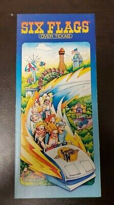1978 Six Flags Over Texas Theme Park Travel Tourism Brochure Shock Wave Coaster