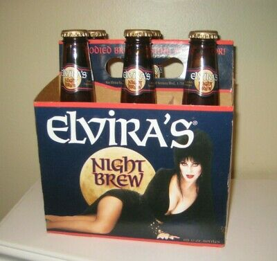 Elvira's Night Brew Mistress of the Dark 6 Pack Man Cave Beer Display 1996 OLD