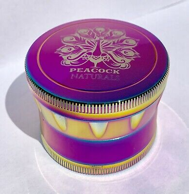 Herb Grinder ~ 4 piece  2.5 Inches 60mm ~ Rainbow ~ ***BONUS $5.00 Coupon***