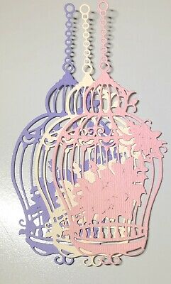 FREE POSTAGE OFFER-6 X Birdcage - Scrapbooking/Cardmaking Die Cuts