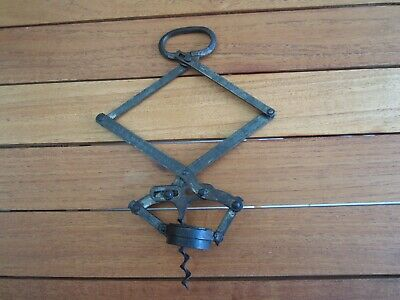 C-1900 Antique Hd Armstrong Lazy Tong Concertini Corkscrew - A Rare Item