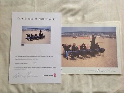 Oasis Roll With It Sleeve out take Limited Edition 7/100 Certificate and Signed