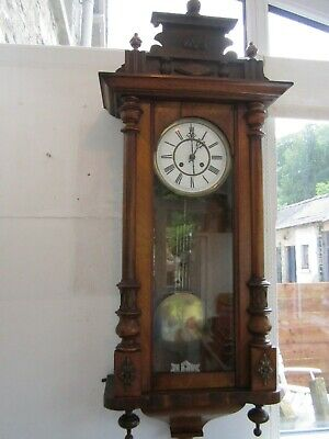 Rare Antique Vienna Wall Clock By Thomas Haller, In Very Good Condition