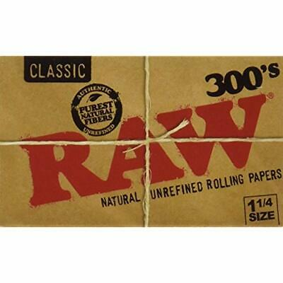 """Raw 300 Classic 1.25 1/4 Size Rolling Papers Pack 1500 Leaves Health """" Personal"""