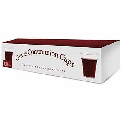 Communion Cups - Disposable Plastic 100 Per Box Fits Standard Holy Trays Kitchen