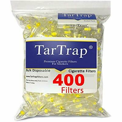 """Disposable Cigarette Filters - Bulk Economy Pack (400 Filters) Health """" Personal"""