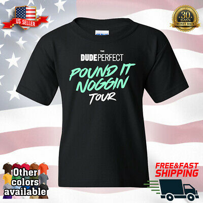 DP Dude Perfect Pound It Noggin Tour Famous YouTube Kid's Youth Child T-Shirt